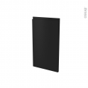 Façades de cuisine - Porte N°85 angle - IPOMA Noir mat - L38,8 x H70 cm