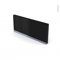 Plinthe de cuisine - IPOMA Noir mat  - avec joint d'étanchéité - L220xH15,4 cm