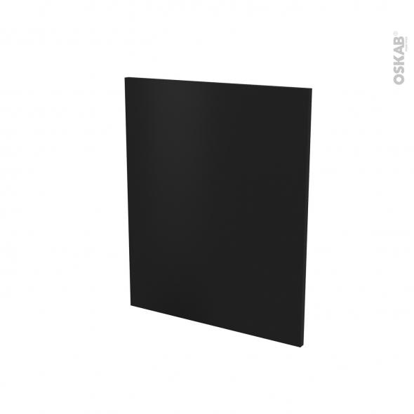 Finition cuisine - Joue N°29 - IPOMA Noir mat - Avec sachet de fixation - A redécouper - L58.4 x H41 cm