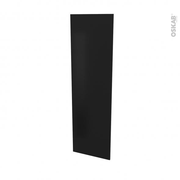 Finition cuisine - Joue N°88 - IPOMA noir mat  - Avec sachet de fixation - L58.4 x H195 x Ep 1,6 cm