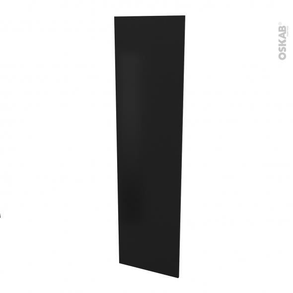 Finition cuisine - Joue N°89 - IPOMA noir mat  - Avec sachet de fixation - L58.4 x H217 x Ep 1,6 cm