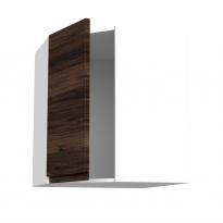 Meuble de cuisine - Angle haut - IPOMA Noyer - 1 porte N°85 L40 cm - L65 x H70 x P37 cm