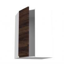 Meuble de cuisine - Angle haut - IPOMA Noyer - 1 porte N°86 L38,8 cm - L65 x H92 x P37 cm