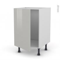 Meuble de cuisine - Sous évier - IVIA Gris - 1 porte - L50 x H70 x P58 cm