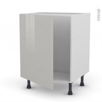 Meuble de cuisine - Sous évier - IVIA Gris - 1 porte - L60 x H70 x P58 cm