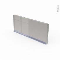 Plinthe de cuisine - IVIA Gris - avec joint d'étanchéité - L220xH15,4