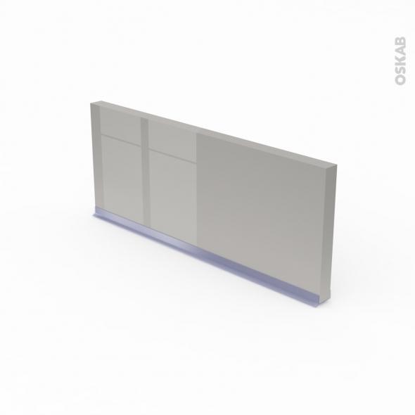Plinthe de cuisine - Rénovation 18 - IVIA Gris - avec joint d'étanchéité - L220xH15,4