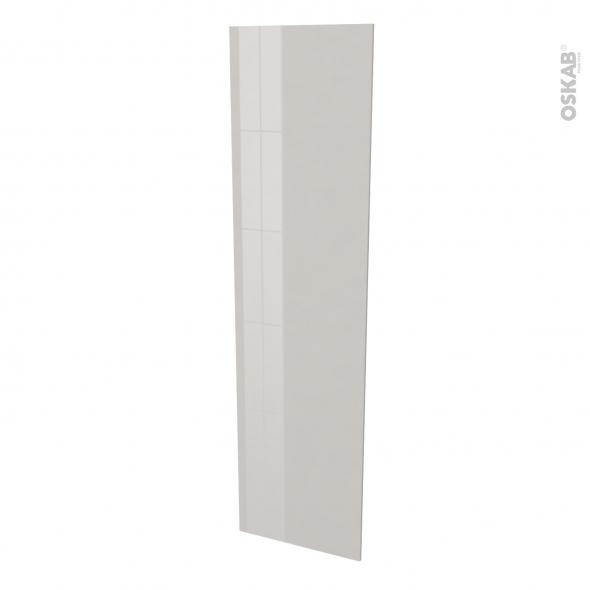 Finition cuisine - Joue N°89 - IVIA Gris - Avec sachet de fixation - L58 x H217 x Ep 1,6 cm
