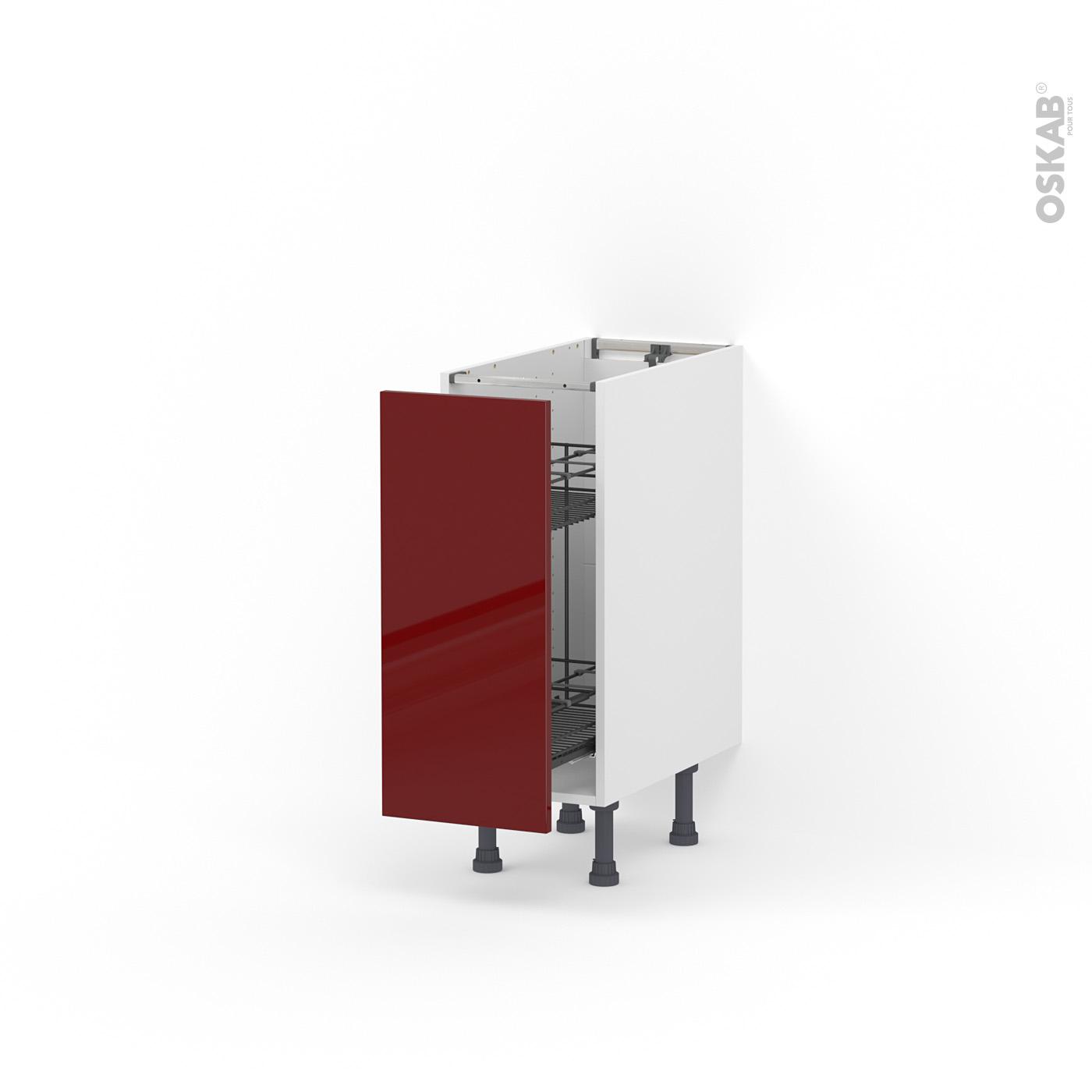 Meuble de cuisine Range épice epoxy IVIA Rouge, 10 porte, L10 x H10 x P10 cm