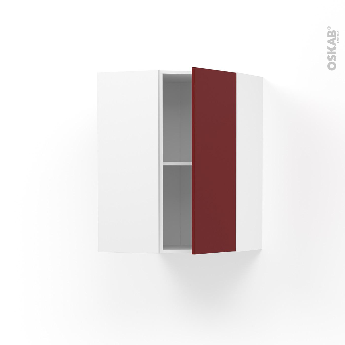 Meuble de cuisine Angle haut IVIA Rouge, 10 porte N°10 L10 cm, L10 x H10 x  P10 cm