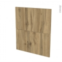 Façades de cuisine - 2 tiroirs N°57 - OKA Chêne - L60 x H70 cm