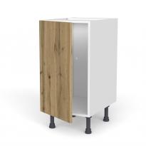 Meuble de cuisine - Bas - OKA Chêne - 1 porte - L40 x H70 x P58 cm
