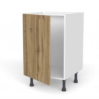 Meuble de cuisine - Bas - OKA Chêne - 1 porte - L50 x H70 x P58 cm