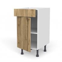 Meuble de cuisine - Bas - OKA Chêne - 1 porte 1 tiroir  - L40 x H70 x P58 cm