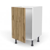 Meuble de cuisine - Sous évier - OKA Chêne - 1 porte - L50 x H70 x P58 cm