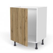 Meuble de cuisine - Sous évier - OKA Chêne - 1 porte - L60 x H70 x P58 cm