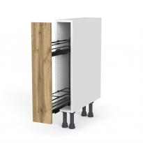 Meuble de cuisine - Range épice epoxy - OKA Chêne - 1 porte - L15 x H70 x P58 cm