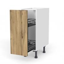 Meuble de cuisine - Range épice epoxy - OKA Chêne - 1 porte - L30 x H70 x P58 cm