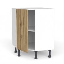 Meuble de cuisine - Angle bas - OKA Chêne - 1 porte N°19 L40 cm - L65 x H70 x P37cm