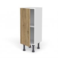 Meuble de cuisine - Bas - OKA Chêne - 1 porte - L30 x H70 x P37 cm