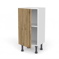 Meuble de cuisine - Bas - OKA Chêne - 1 porte - L40 x H70 x P37 cm