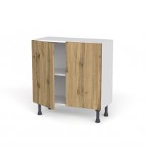 Meuble de cuisine - Bas - OKA Chêne - 2 portes - L80 x H70 x P37 cm