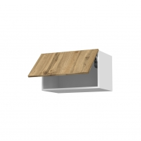 Meuble de cuisine - Haut abattant - OKA Chêne - 1 porte - L60 x H35 x P37 cm