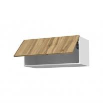 Meuble de cuisine - Haut abattant - OKA Chêne - 1 porte - L80 x H35 x P37 cm