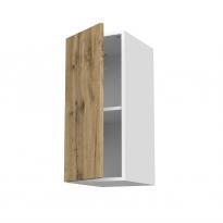 Meuble de cuisine - Haut ouvrant - OKA Chêne - 1 porte - L30 x H70 x P37 cm