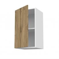Meuble de cuisine - Haut ouvrant - OKA Chêne - 1 porte - L40 x H70 x P37 cm