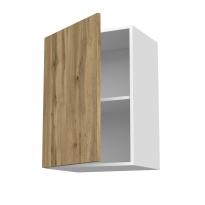 Meuble de cuisine - Haut ouvrant - OKA Chêne - 1 porte - L50 x H70 x P37 cm