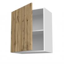 Meuble de cuisine - Haut ouvrant - OKA Chêne - 1 porte - L60 x H70 x P37 cm