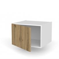Meuble de cuisine - Haut ouvrant - OKA Chêne - 1 porte - L60 x H41 x P58 cm