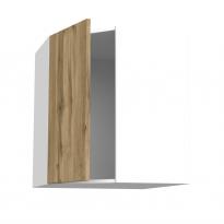 Meuble de cuisine - Angle haut - OKA Chêne - 1 porte N°19 L40 cm - L65 x H70 x P37 cm