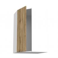 Meuble de cuisine - Angle haut - OKA Chêne - 1 porte N°23 L40 cm - L65 x H92 x P37 cm