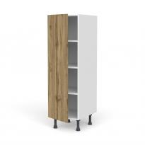 Colonne de cuisine N°26 - Armoire étagère - OKA Chêne - 1 porte - L40 x H125 x P58 cm
