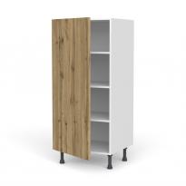 Colonne de cuisine N°27 - Armoire étagère - OKA Chêne - 1 porte - L60 x H125 x P58 cm
