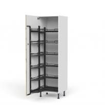 Colonne de cuisine N°2721 - Armoire de rangement ouvrante - OKA Chêne - 12 paniers plateaux - L60 x H195 x P58 cm