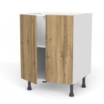 Meuble de cuisine - Bas - OKA Chêne - 2 portes - L60 x H70 x P58 cm