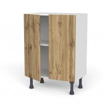 Meuble de cuisine - Bas - OKA Chêne - 2 portes - L60 x H70 x P37 cm