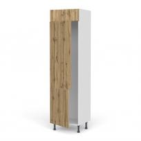 Colonne de cuisine N°2721 - Frigo 2 portes encastrables - OKA Chêne - 2 portes - L60 x H217 x P58 cm