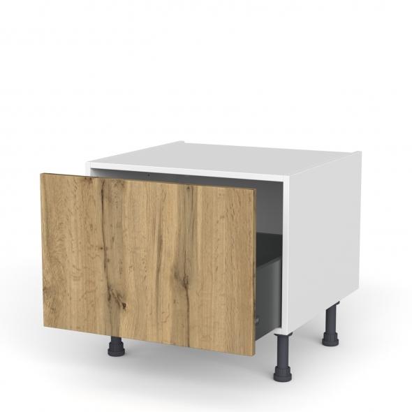 Meuble de cuisine - Bas coulissant - OKA Chêne - 1 porte - L60 x H41 x P58 cm