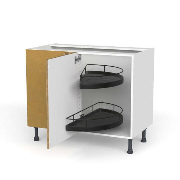Meuble de cuisine - Angle bas - OKA Chêne - Demi lune EPOXY - 1 porte N°20 L50 cm - L100 x H70 x P58 cm