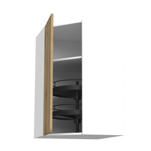 Meuble de cuisine - Angle haut - OKA Chêne - Tourniquet 1 porte N°23 L40 cm - L65 x H92 x P37 cm