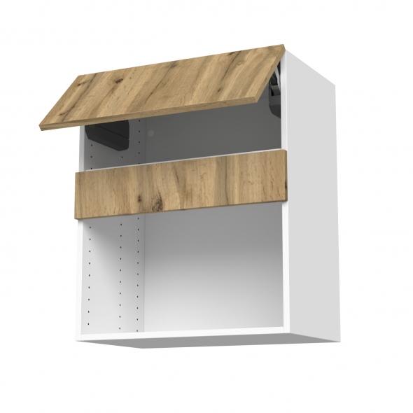 Meuble de cuisine - Haut MO encastrable niche 38 - OKA Chêne - 1 abattant - L60 x H70 x P37 cm