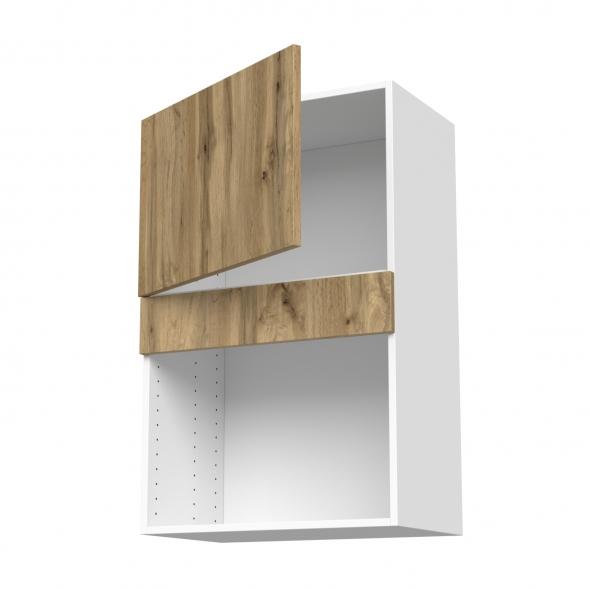 Meuble de cuisine - Haut MO encastrable niche 38 - OKA Chêne - 1 porte - L60 x H92 x P37 cm