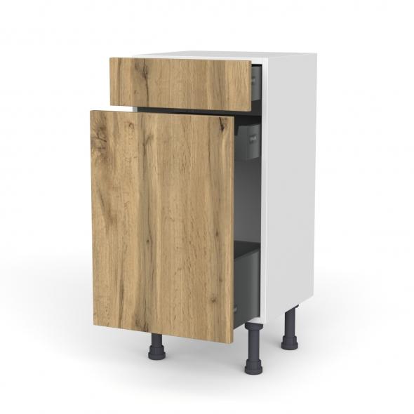 Meuble de cuisine - Range épice - OKA Chêne - 3 tiroirs - L40 x H70 x P37 cm