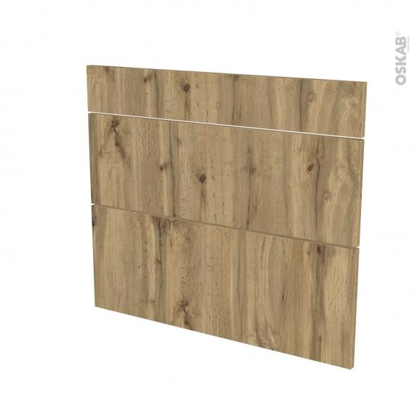 Façades de cuisine - 3 tiroirs N°74 - OKA Chêne - L80 x H70 cm