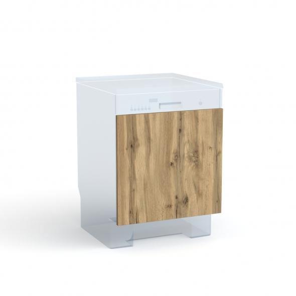 Porte lave vaisselle - Intégrable N°16 - OKA Chêne - L60 x H57 cm
