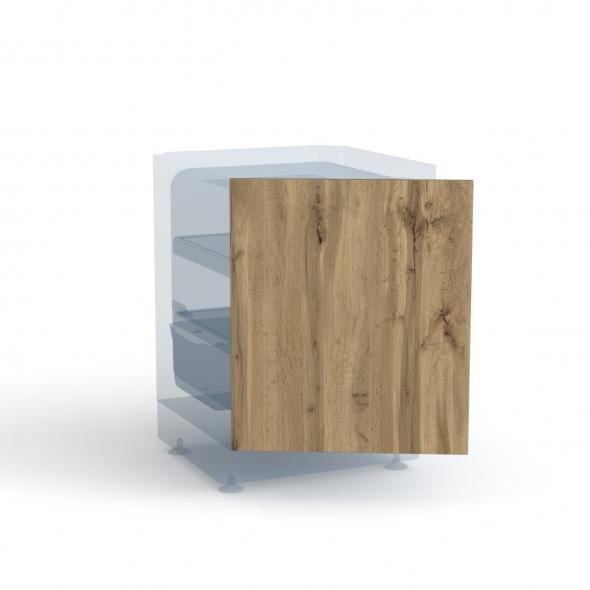 Porte frigo sous plan - Intégrable N°21 - OKA Chêne - L60 x H70 cm
